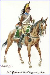 Dragon du 30ème régiment, 1804.