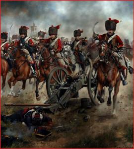 Charge de la compagnie d'élite du 4ème hussards lors du siège de Tarragone,1811