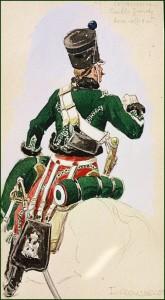 Sous-officier du 1er régiment d'éclaireurs de la Garde