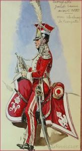 Trompette grande tenue avant 1810