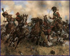 La charge des chasseurs à cheval à Austerlitz, 2 décembre 1805...