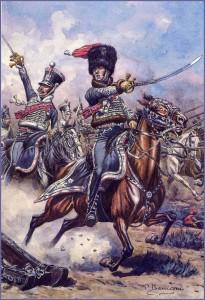La charge du général Testot-Ferry lors de la bataille de Craonne (1814).