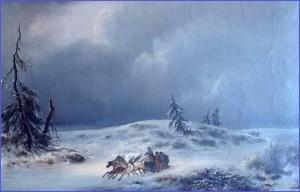 Contrastes … dans TEMOIGNAGES napoleon-en-route-pour-paris-decembre-1812-300x192
