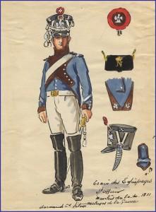 Sous-officier du train des équipages de la Garde Impériale en 1811-1812