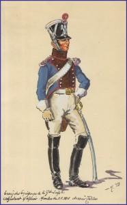 Un adjudant sous-officier du train des équipages de la garde impériale en 1813.
