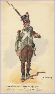 Carabinier du 1er léger en Espagne.
