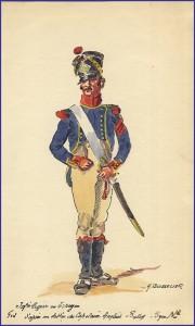 Carabinier d'infanterie légère en Espagne vers 1810-1811.