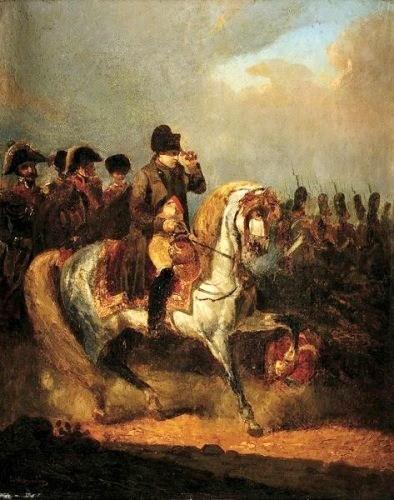 Le départ de Napoléon pour l'armée en janvier 1814. dans TEMOIGNAGES napoleon-et-det-son-etat-major.-par-dumoulin