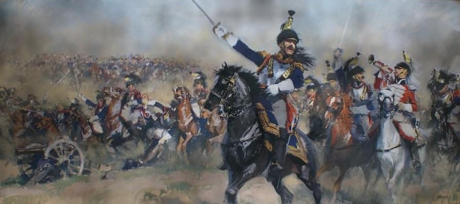 Une charge de cavalerie comme à l'époque... dans HORS-SERIE albert-brenet-ne-en-1903-la-charge