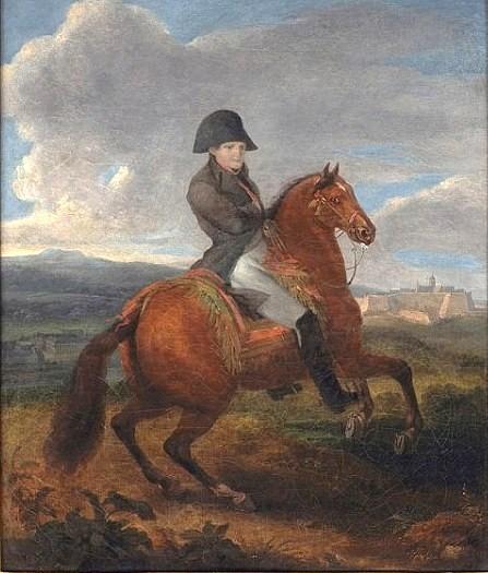 Napoléon à cheval.