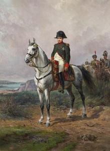 Napoléon au camp de Boulogne en 1805...