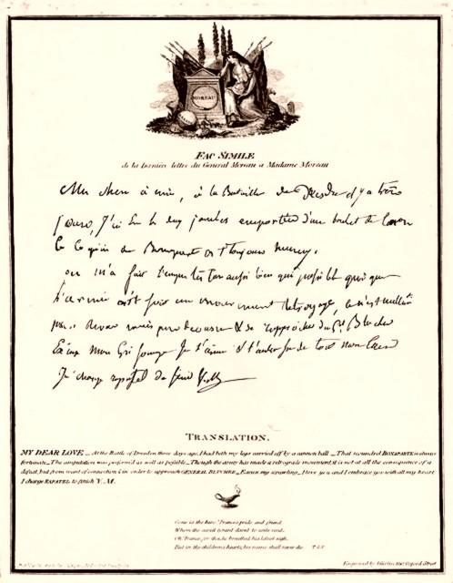 Lettre général Moreau