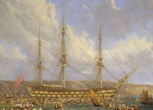 Témoignage du capitaine Maitland (III). dans HORS-SERIE hms_bellerophon_and_napoleon-cropped-300x217